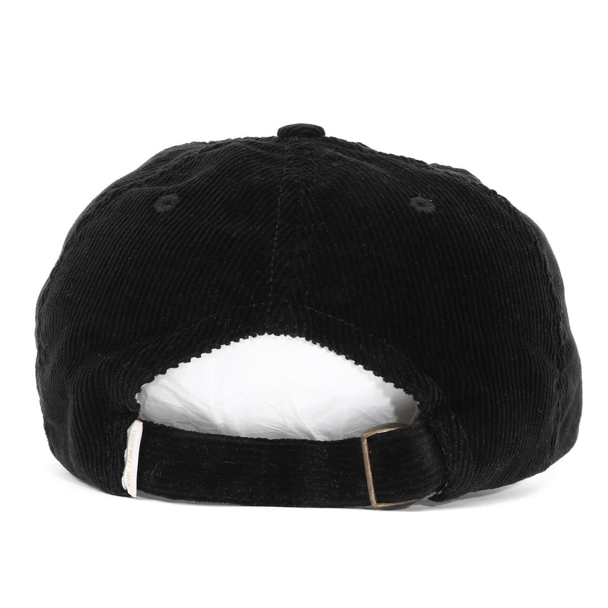 2be95f2629876 AIME LEON DORE (エイメレオンドレ) Aime logo embroidery corduroy 6 panel cap (ALD  LOGO CAP) black