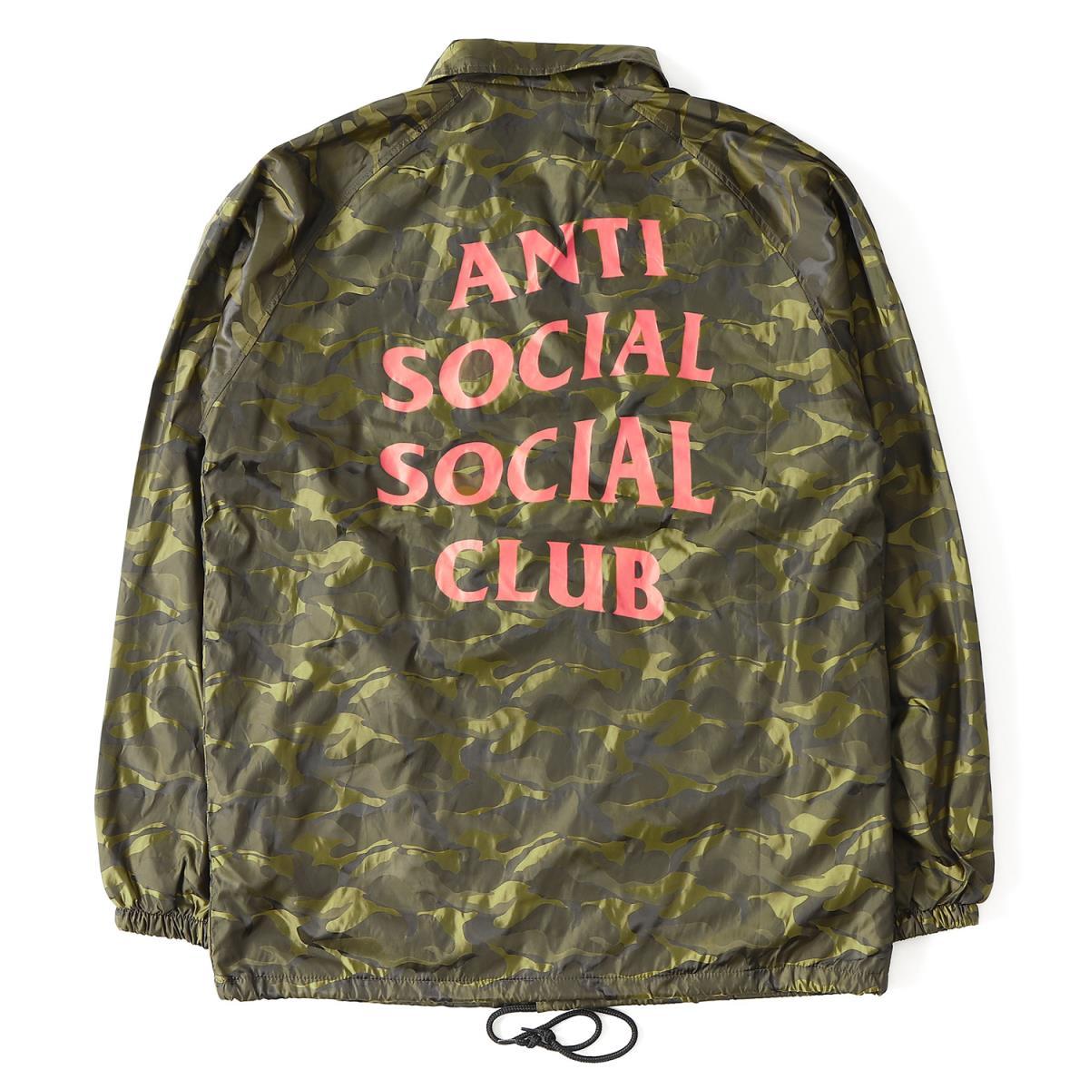 2afdba5ebd21 Anti Social Social Club (antisocial social club) 17S S camouflage pattern  brand logo coach jacket (Camo Coach Jacket) camouflage XL