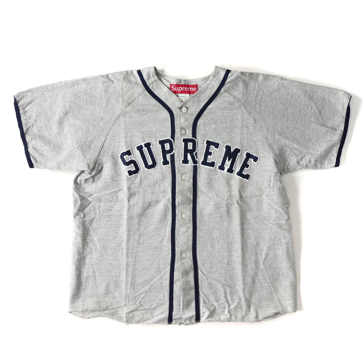 Supreme (シュプリーム) 90's アーチロゴベースボールシャツ グレー XL 【メンズ】【K2081】【中古】【あす楽☆対応可】