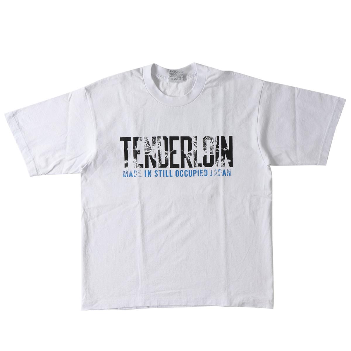 TENDERLOIN (テンダーロイン) 18S/S モンスターブランドロゴヘビーTシャツ(T-TEE QB) ホワイト L 【メンズ】【美品】【K2056】【中古】【あす楽☆対応可】