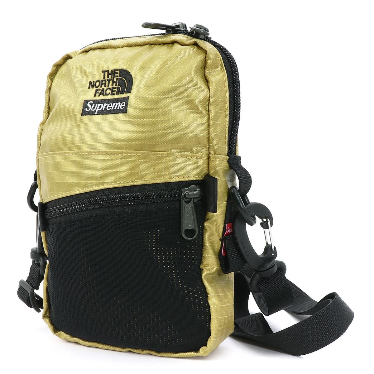Supreme (シュプリーム) 18S/S ×THE NORTH FACE メタリックショルダーバッグ(Metallic Shoulder Bag) ゴールド 【メンズ】【美品】【K2058】【中古】【あす楽☆対応可】