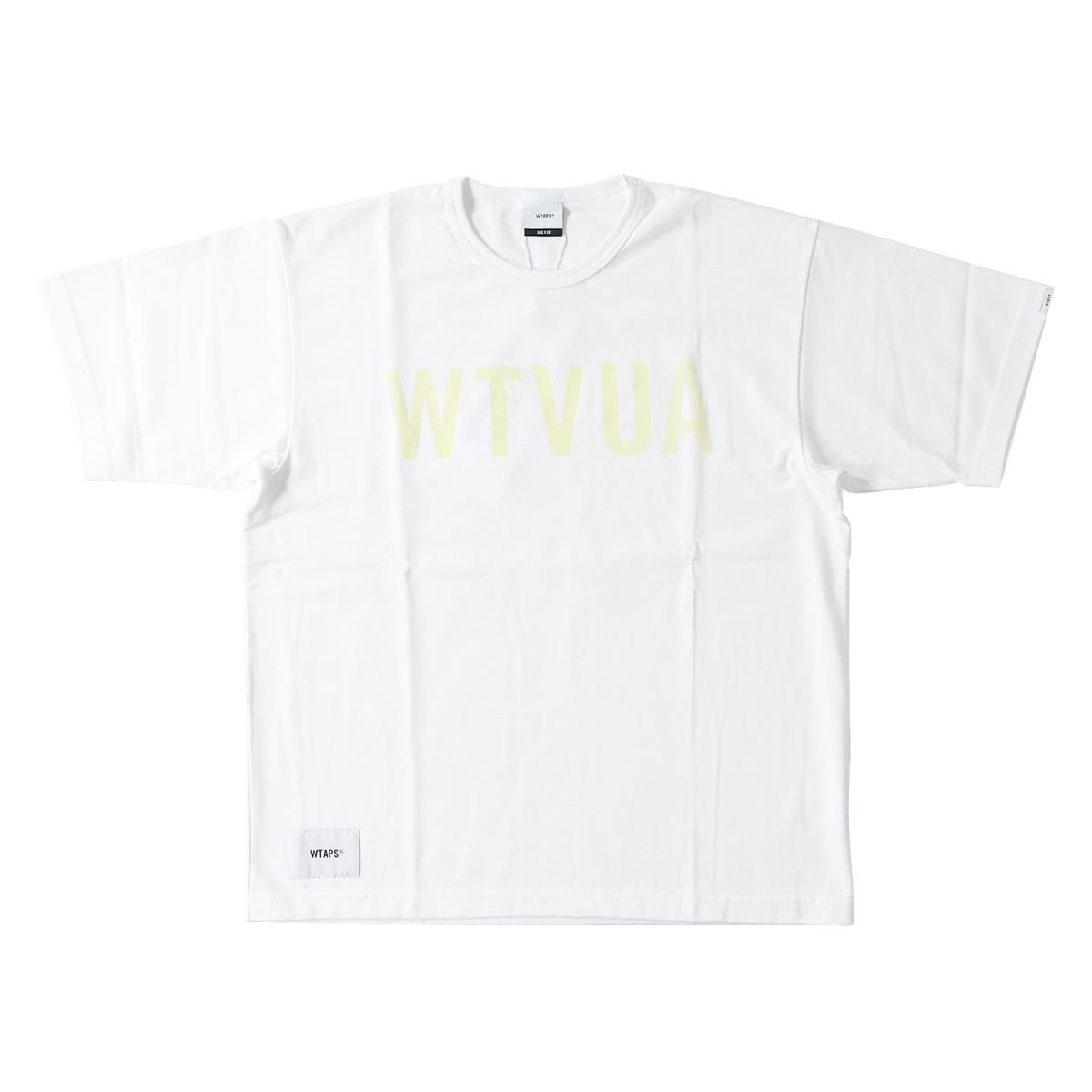 WTAPS (ダブルタップス) 18S/S ラバープリントWTVUAロゴヘビーTシャツ(DESIGN SS WTVUA) ホワイト M 【メンズ】【K2059】【あす楽☆対応可】