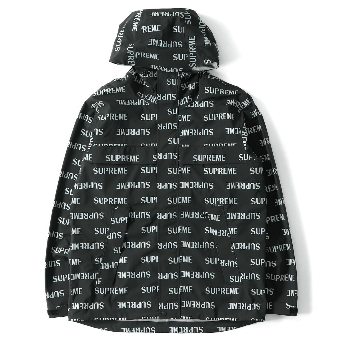 Supreme シュプリーム 16a W Logo Pattern Mountain Parka 3m Reflective Repeat Taped Seam Jacket Black L