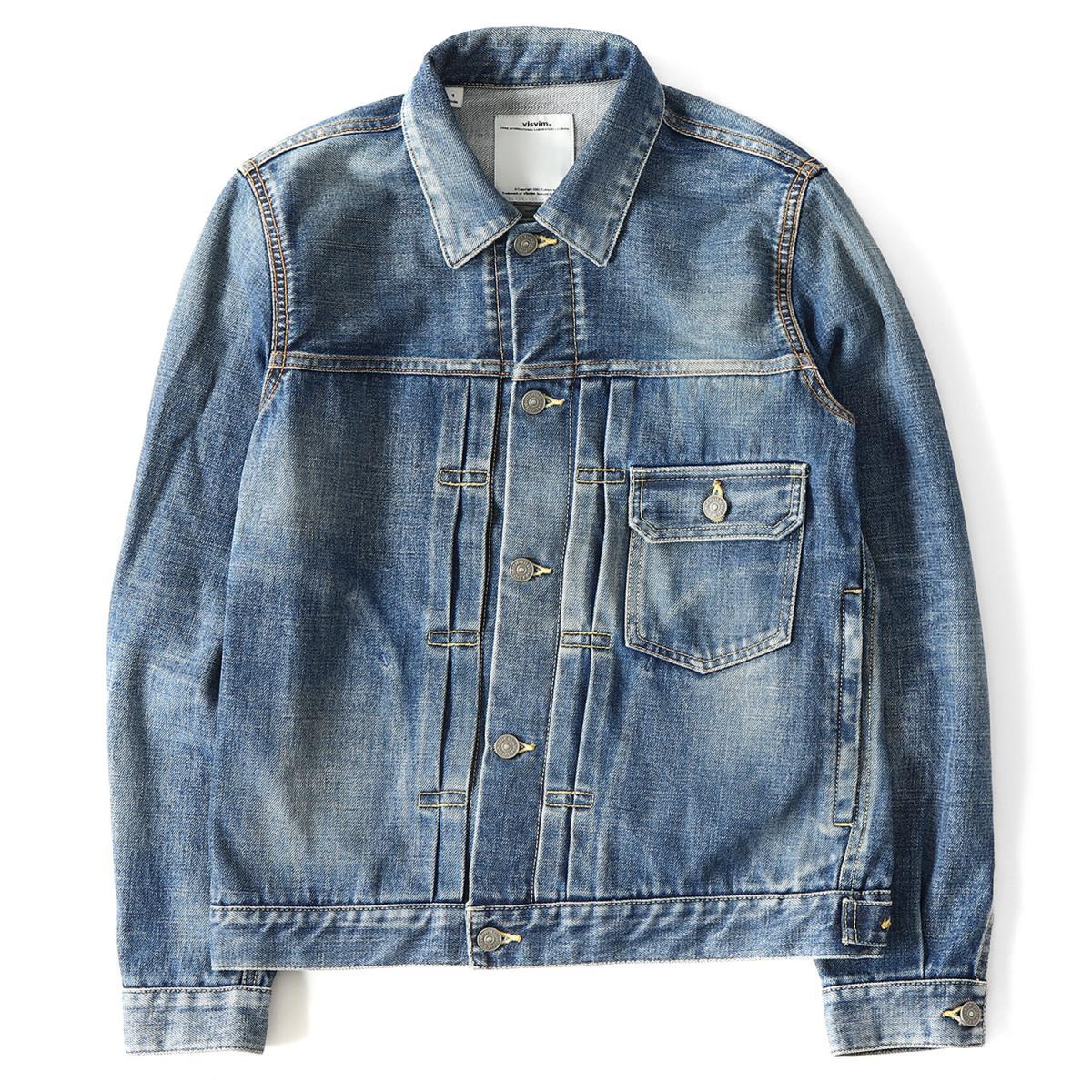 outlet for sale how to purchase best supplier visvim (ヴィズビム) vintage processing 1st type denim jacket (SS 102 JKT  DAMAGED) indigo 1