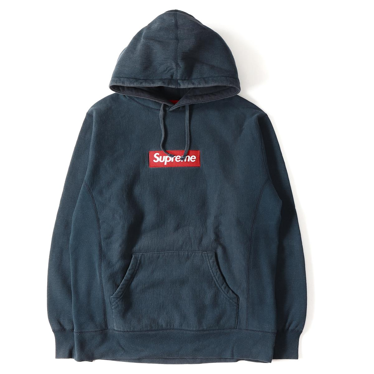 Supreme (シュプリーム) 12A/W BOXロゴスウェットパーカー(Box Logo Pullover) ネイビー L 【メンズ】【K2065】【中古】【あす楽☆対応可】
