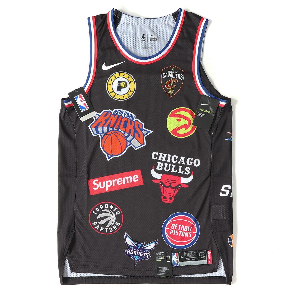 Supreme (シュプリーム) 18S/S ×NIKE×NBA マルチロゴバスケタンクトップ(Authentic Jersey) ブラック M 【メンズ】【新品同様】【K2071】【中古】【あす楽☆対応可】