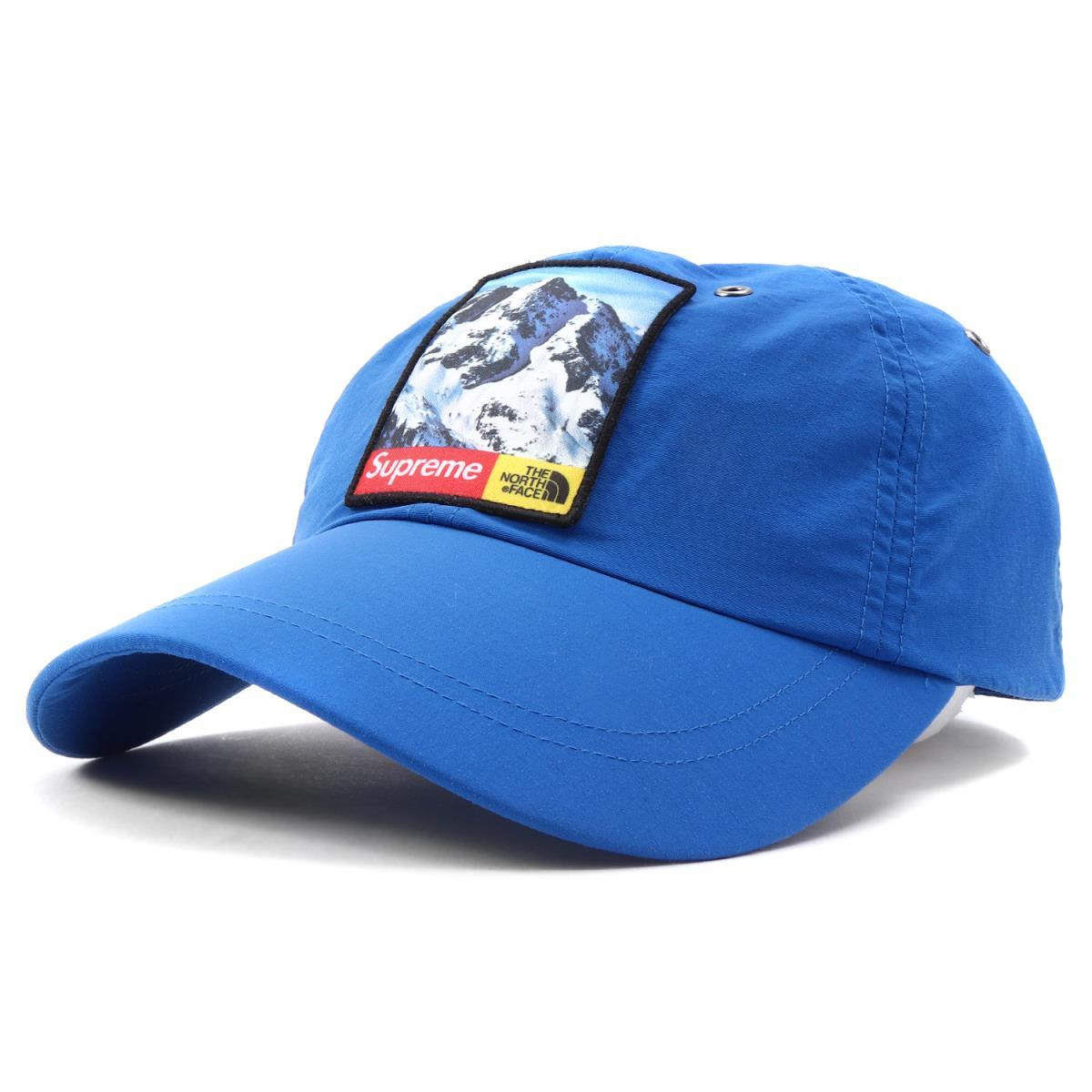 Supreme (シュプリーム) 17A/W ×THE NORTH FACE ワッペン付き6パネルキャップ(Mountain 6-Panel Hat) ロイヤル 【メンズ】【美品】【K2074】【中古】【あす楽☆対応可】