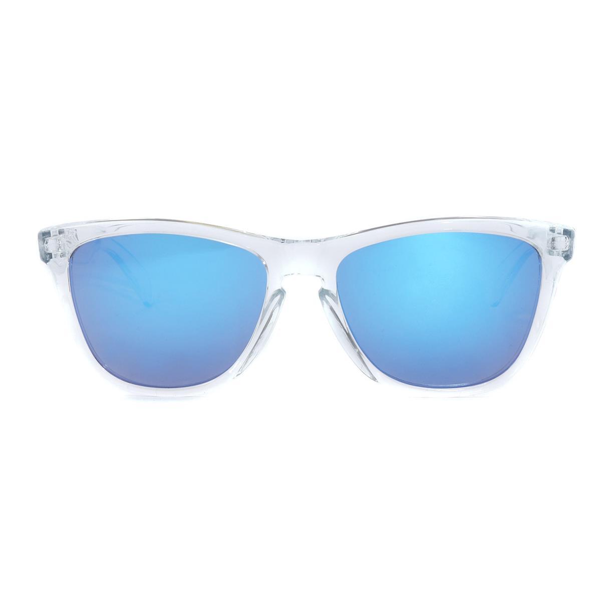 30a3489f65 OAKLEY (Oakley) frog skin polarizing lens sunglasses (FROGSKINS 24-305) clear  frame X violet lens 55 □ 17