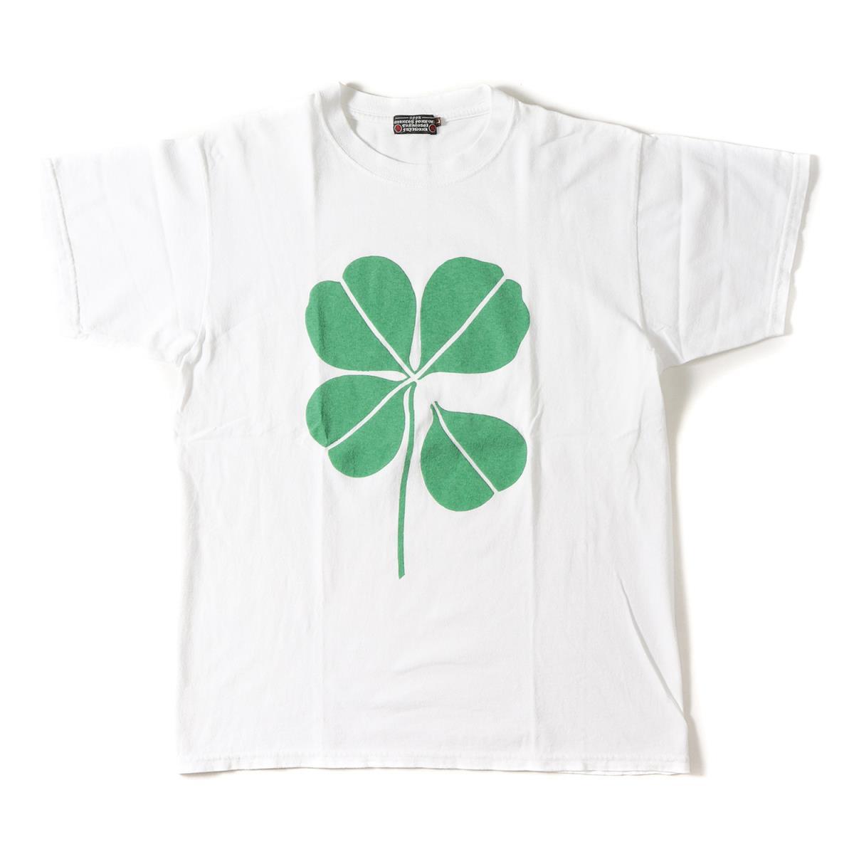 AFFA (エーエフエフエー) 90's 初期 クローバープリントTシャツ ホワイト L 【メンズ】【K2077】【中古】【あす楽☆対応可】