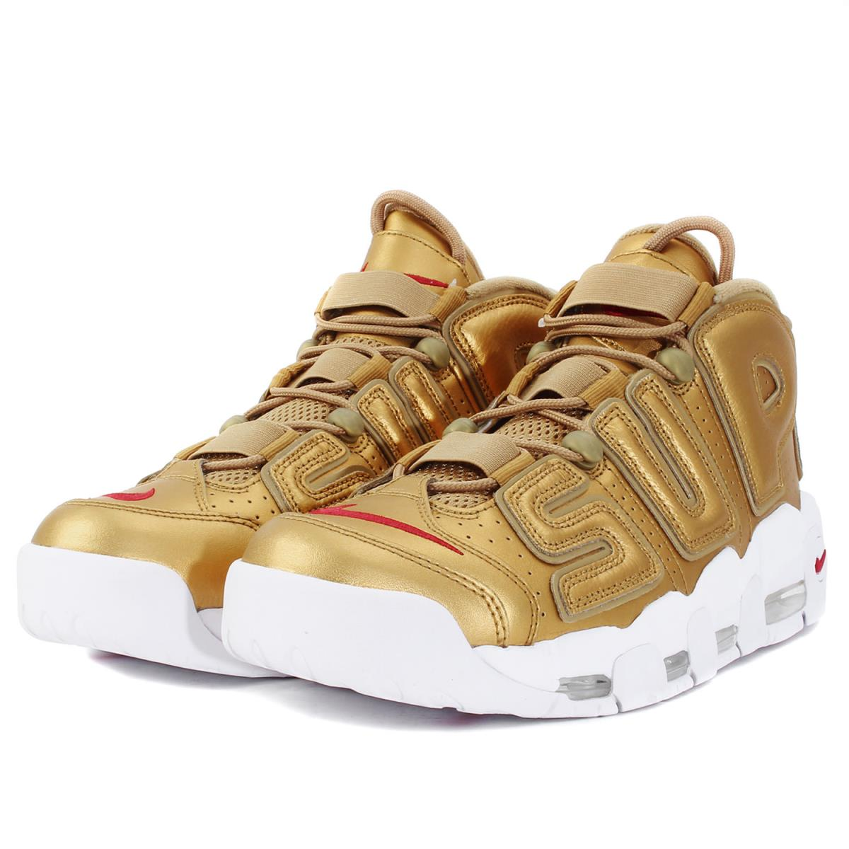 half off ad0ce 41326 Supreme (シュプリーム) 17SS X NIKE AIR MORE UPTEMPO (902,290-700) metallic gold  US10(28)