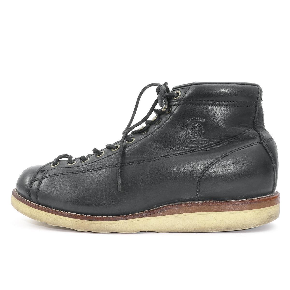 CHIPPEWA (チペワ) レザーモンキーブーツ ブラック US9(27cm) 【メンズ】【K2079】【中古】【あす楽☆対応可】
