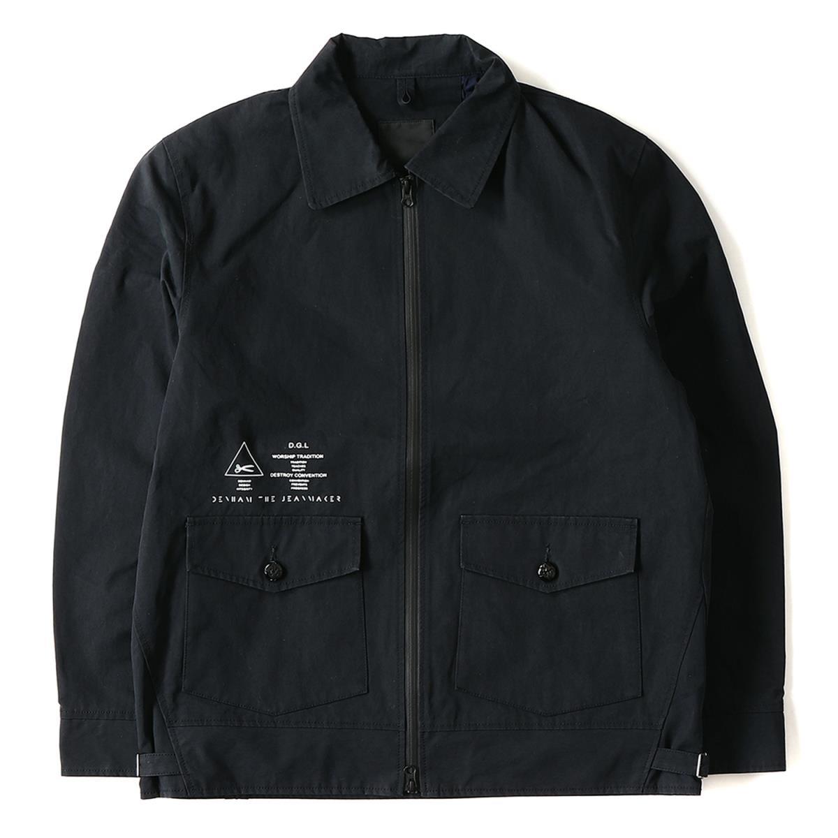2fd6ee66f DENHAM (den ham) Japan-limited logo print T/C Bonn bar jacket (SOLID  BOMBER) navy L
