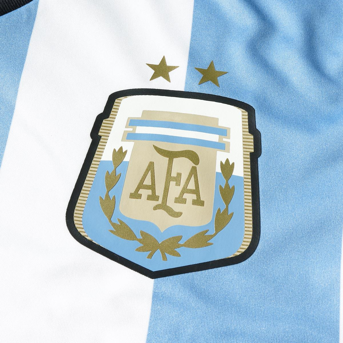 Representative from adidas (Adidas) 14-15 Argentina replica uniform /  soccer jersey white X Columbian blue S
