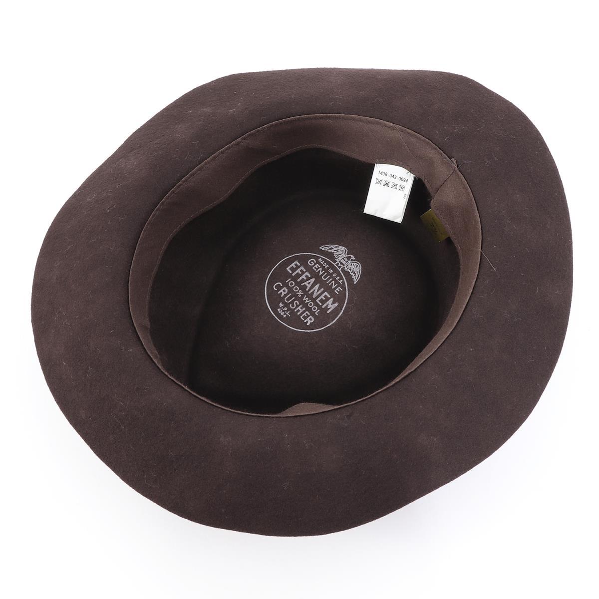 2bbbefe9d EFFANEM (エファネム) wool crusher hat (CRUSHER HAT) brown 7 3/8(59cm)