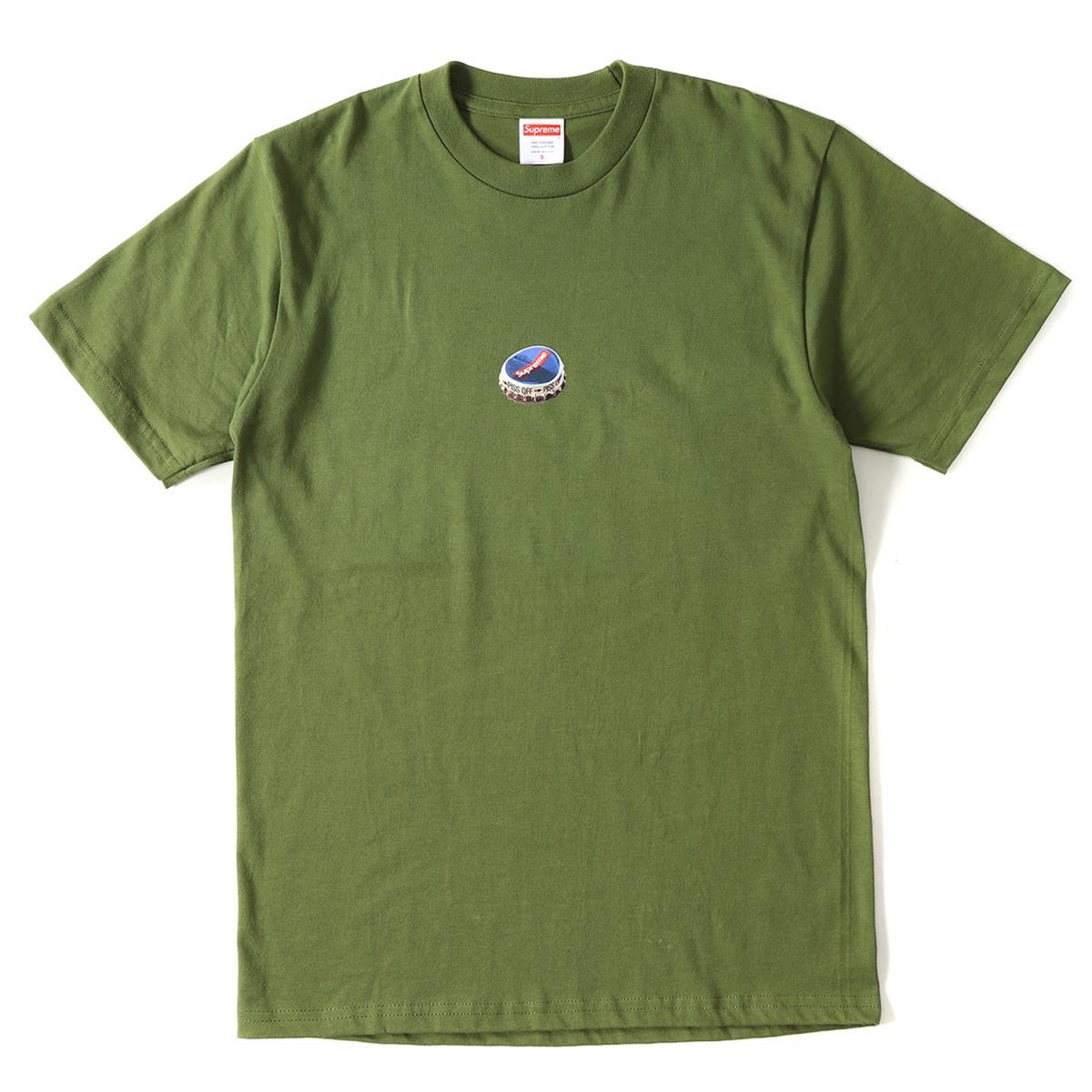 Supreme (シュプリーム) 18A/W ボトルキャップロゴTシャツ(Bottle Cap Tee) オリーブ S 【メンズ】【美品】【K2087】【中古】【あす楽☆対応可】