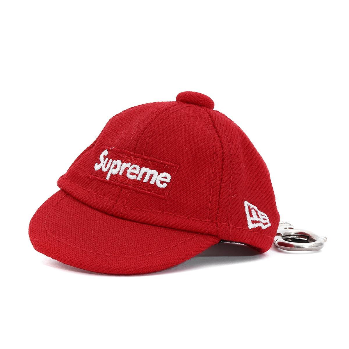 Supreme (シュプリーム) 14A/W ×NEW ERA BOXロゴベースボールキャップキーチェーン(Keychain) レッド 【美品】【メンズ】【K2091】【中古】【あす楽☆対応可】