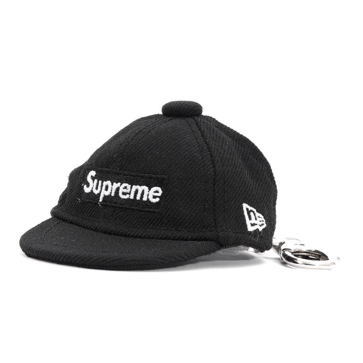 Supreme (シュプリーム) 14A/W ×NEW ERA BOXロゴベースボールキャップキーチェーン(Keychain) ブラック 【美品】【メンズ】【K2091】【中古】【あす楽☆対応可】