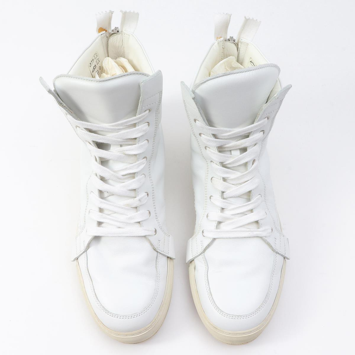 cd8167637a KRIS VAN ASSCHE (Chris station wagon Ashe) back zip leather higher  frequency elimination sneakers white 41
