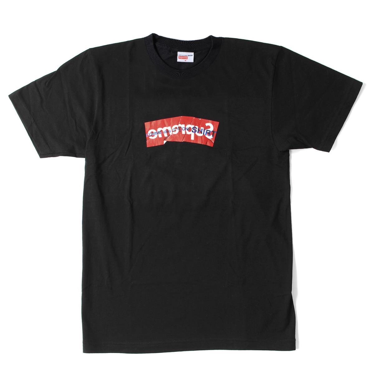 Supreme (シュプリーム) 17S/S ×COMME des GARCONS SHIRT BOXロゴTシャツ(Box Logo Tee) ブラック M 【メンズ】【K2092】【あす楽☆対応可】