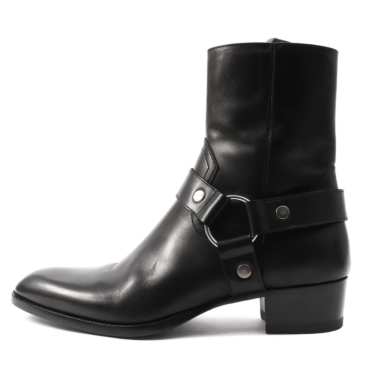 ae212c56a7c Zip leather boots (WYATT 40 HARNESS BOOT) black 41 with the SAINT LAURENT  PARIS ...