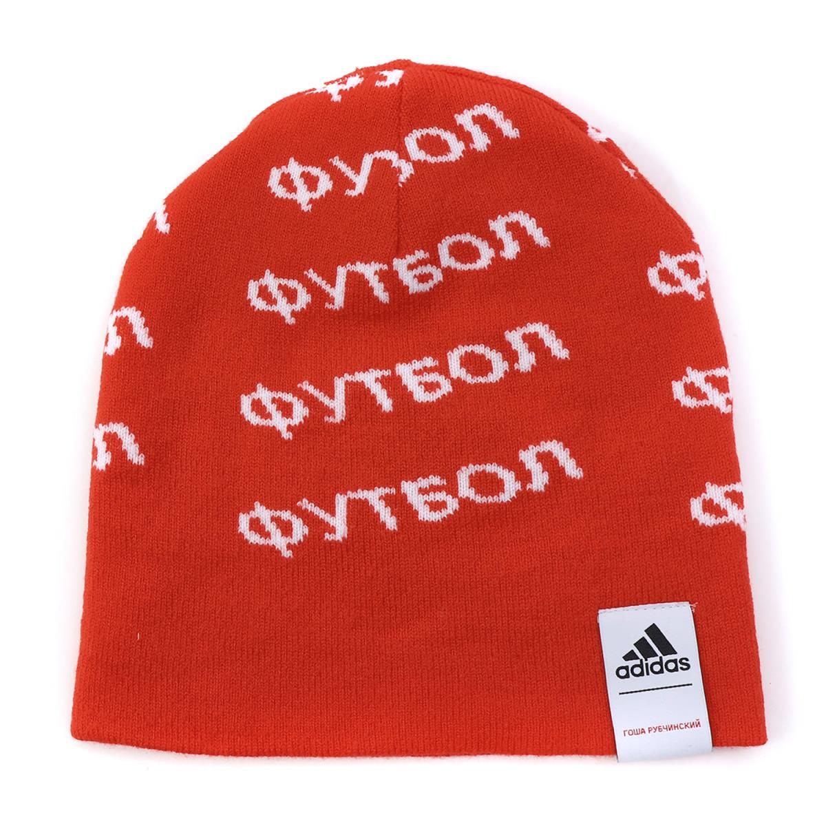 Gosha Rubchinskiy (go Schalla butyne ski) 17A W X adidas monogram logo knit  beanie red 9b93dab8356f