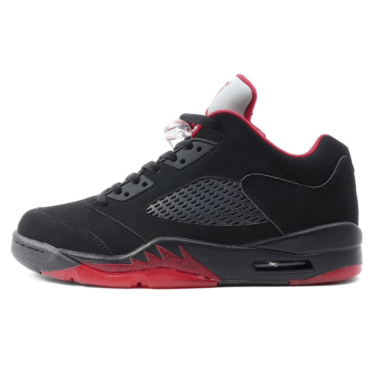 premium selection effc7 776a0 NIKE (Nike) AIR JORDAN 5 RETRO LOW ALTERNATE (819,171-001) black X gym red  US9.5(27.5cm)