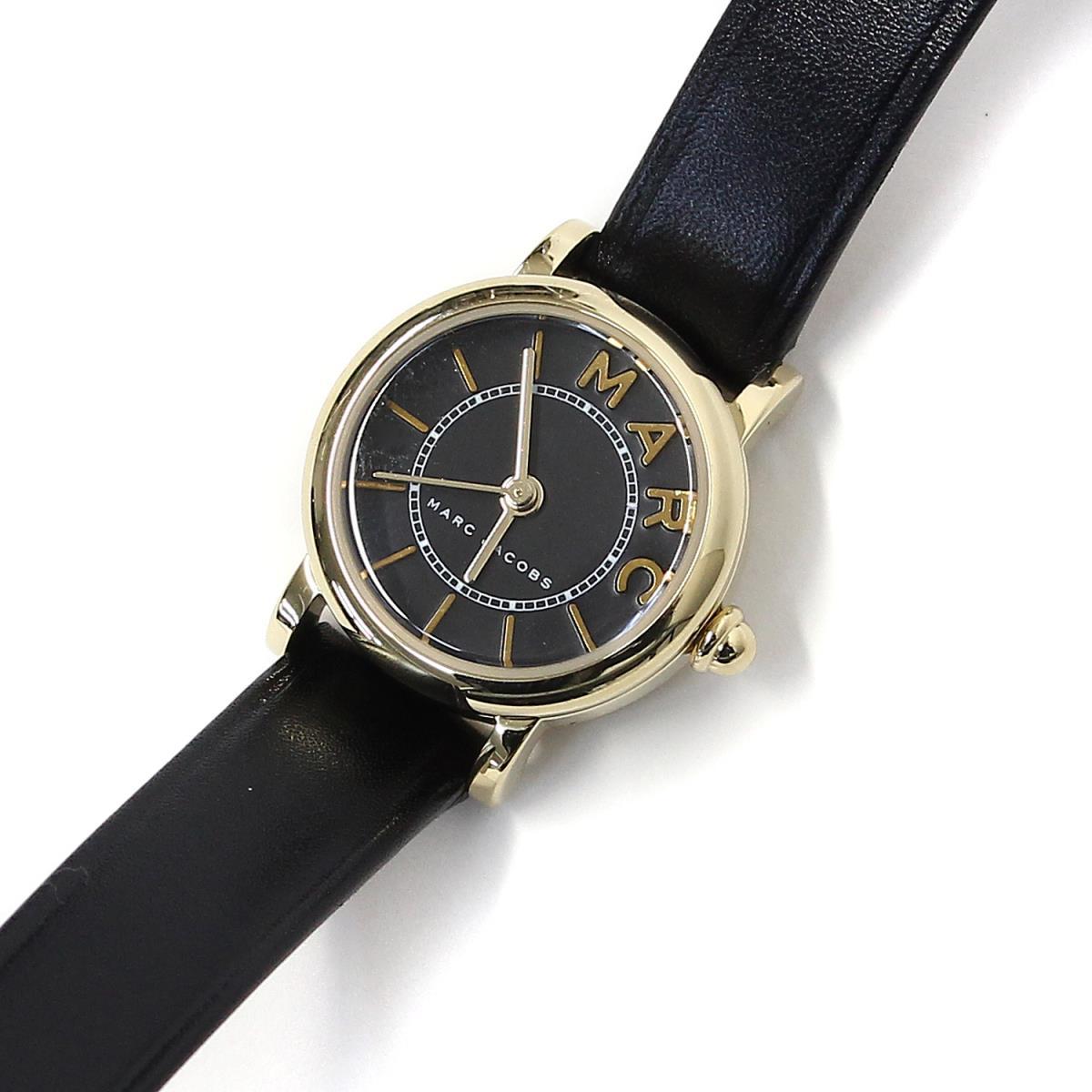 MARC JACOBS(マークジェイコブス) クォーツ CLASSIC 腕時計 20mm レザー MJ1585 ブラック×ゴールド 【レディース】【K2128】【中古】【美品】