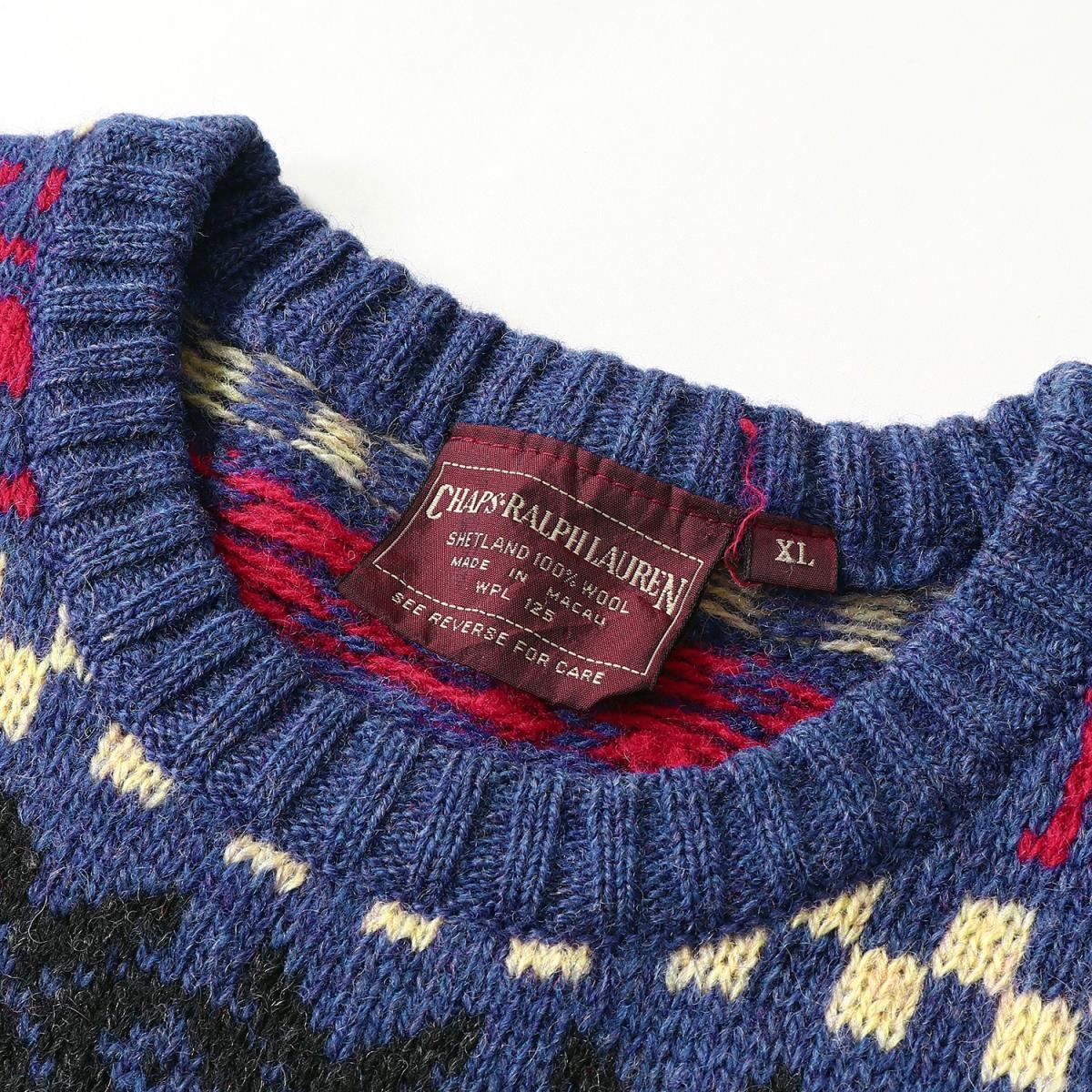 301c259ac ... RALPH LAUREN (Ralph Lauren) 90  s reindeer pattern crew neck knit  sweater (