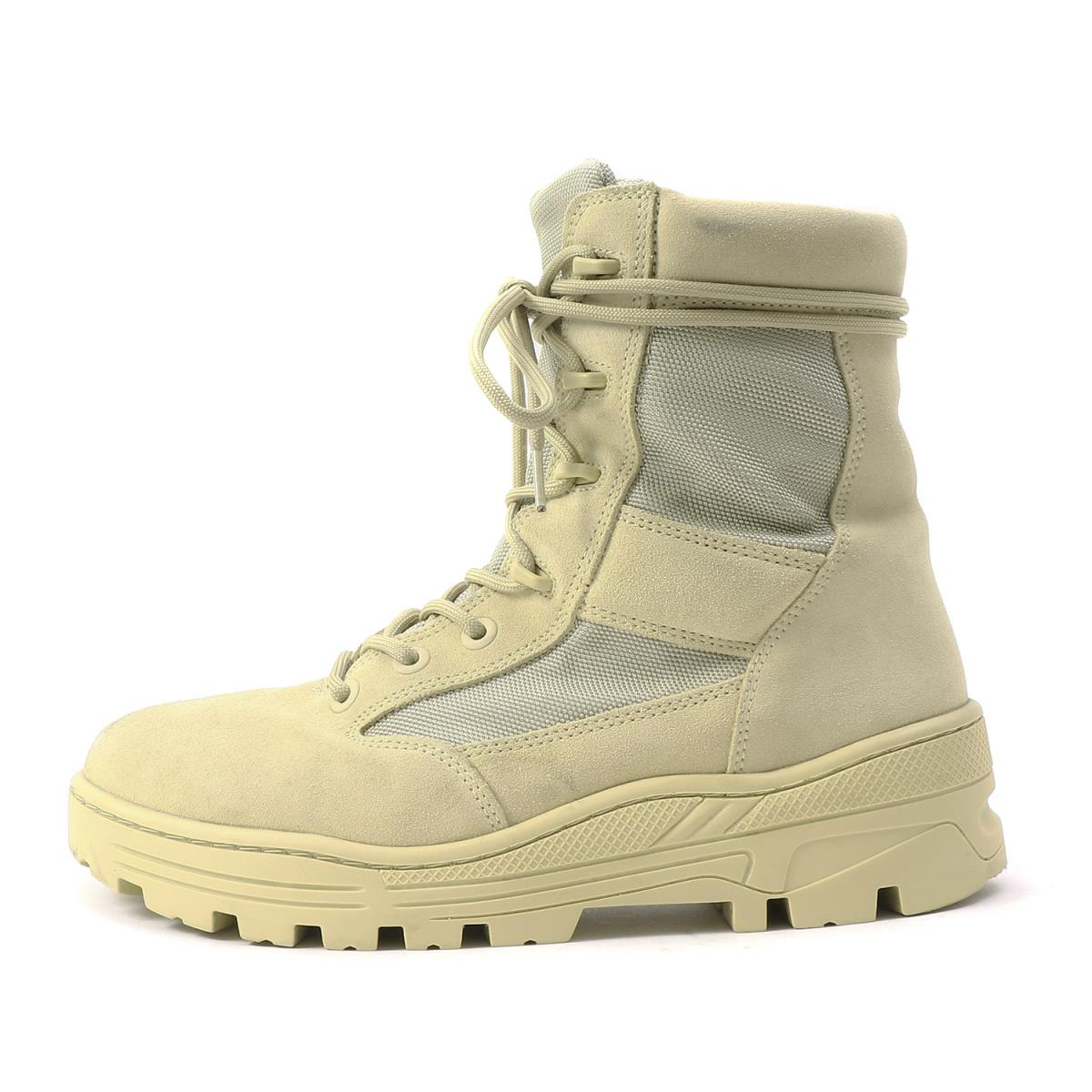 625828b76c349 YEEZY (easy) 17A W combat boot (Season 4   SAND NYLON AND SUEDE COMBAT BOOT)  sand 42