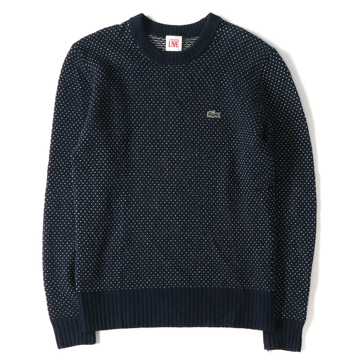 c612a29f69 BEEGLE by Boo-Bee  LACOSTE (Lacoste) dobby dot crew neck wool knit ...