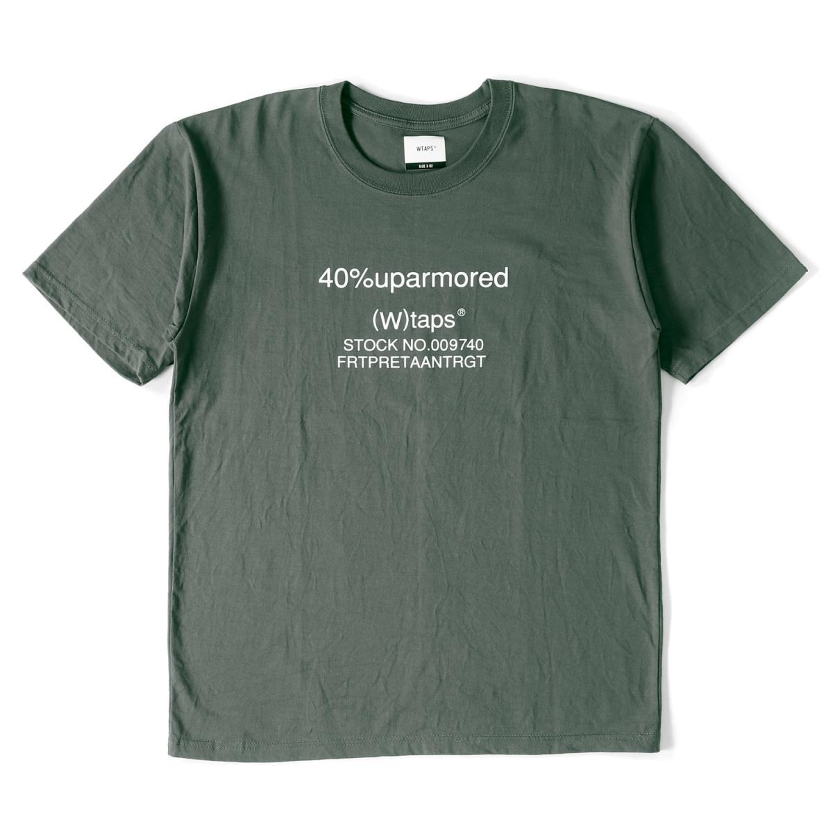 WTAPS (ダブルタップス) 18A/W ブランドロゴTシャツ(40PCT UPARMORED / SCREEN SS TEE) グレー M 【メンズ】【美品】【K2148】【中古】【あす楽☆対応可】