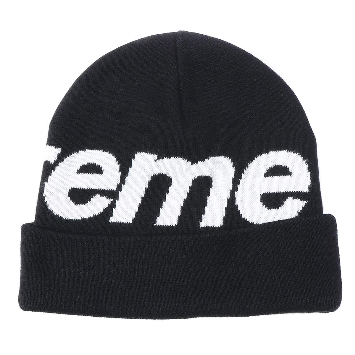e56db321 Supreme (シュプリーム) 16A/W big logo cashmere blend cotton beanie (Big Logo  Beanie) black