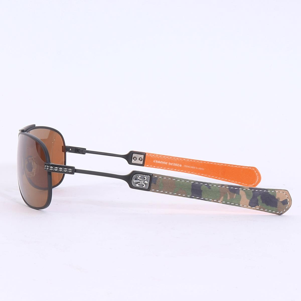 2bb4df9fab0 Teardrop sunglasses (CLASSIC ELITE) black   camouflage frame X brown lens  with CHROME HEARTS (chromic Hertz) BS flare parts