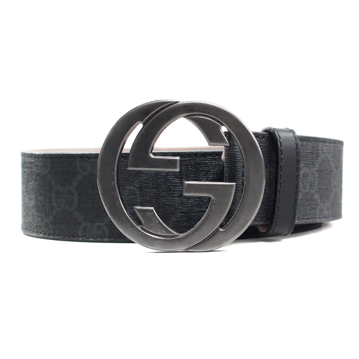 b7351763ce0 GUCCI (Gucci) GG buckle interlocking grip GG monogram belt (CINTURA GG  SUPREME) black 90 36