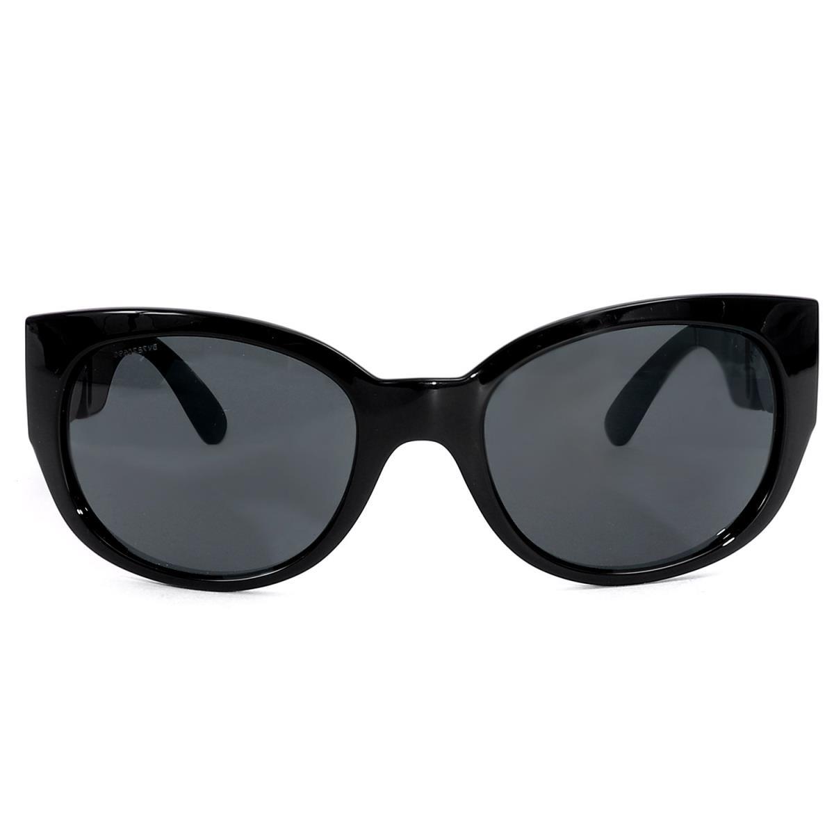 VERSACE (ヴェルサーチ) 2016年製 メデューサプレート付きスモークレンズサングラス(4265) ブラック 【メンズ】【美品】【K2162】【中古】【あす楽☆対応可】