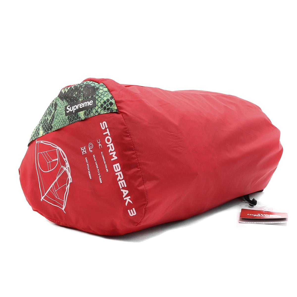 Supreme (シュプリーム) 18S/S ×THE NORTH FACE スネーク柄テント(Snakeskin Taped Seam 3 Tent) グリーンスネークプリント 【メンズ】【K2170】【あす楽☆対応可】
