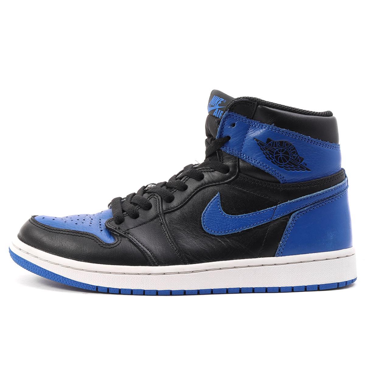 wholesale sales nice shoes on sale NIKE (Nike) AIR JORDAN 1 RETRO HIGH OG ROYAL (/ 555,088-007 made in 2017)  black X royal US8.5(26.5cm)