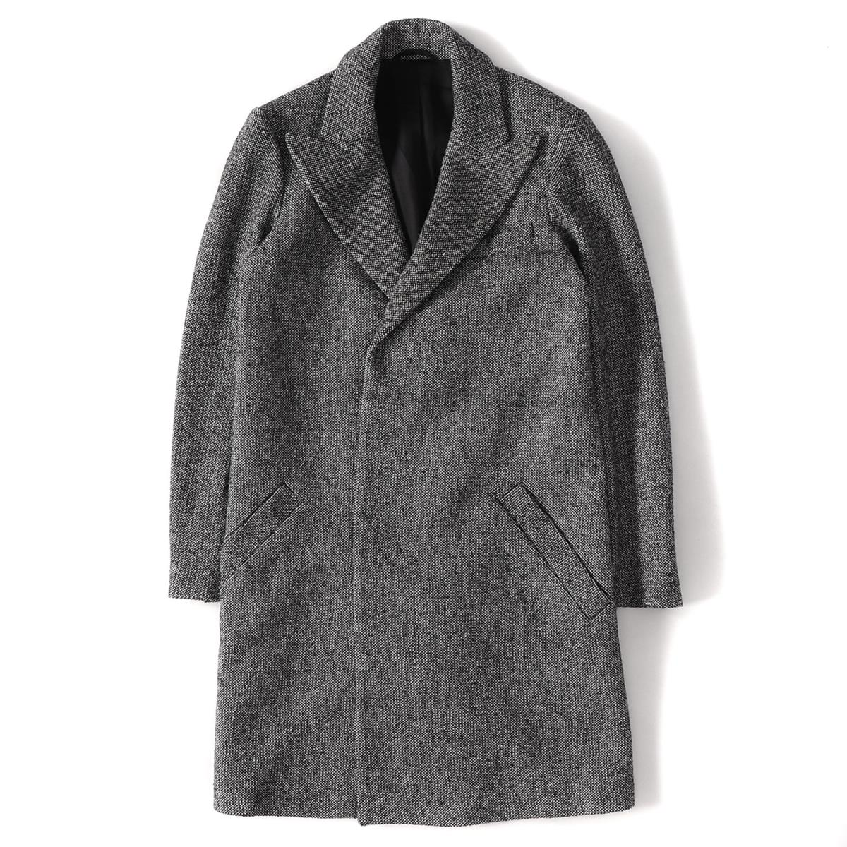 wholesale sales official photos best quality Product made in CARVEN (Cal Venn) wool tweed Chester coat Portugal Blue  Bell Japan tag gray 44