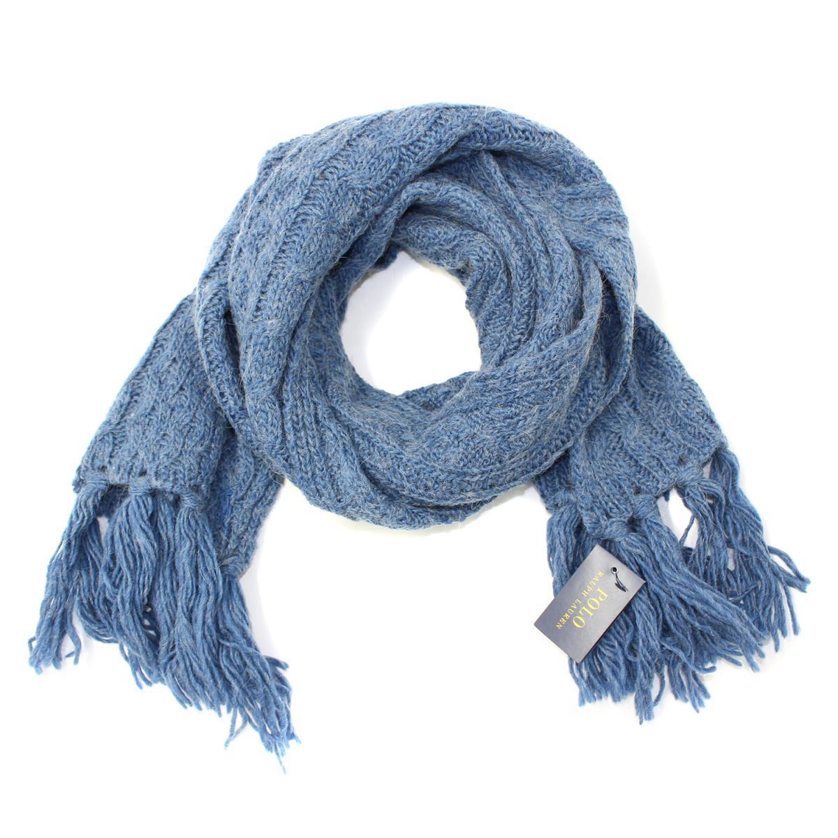 6079e38b6f1 POLO RALPH LAUREN (polo Ralph Lauren) scarf gloves knit hat beanie ensemble  is blue