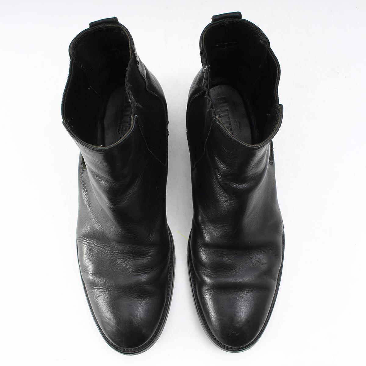 BUTTEROブッテロ靴 レザー サイドゴア ブーツ B821 ブラック 41メンズK2180あす楽 対応可rxoBCWde
