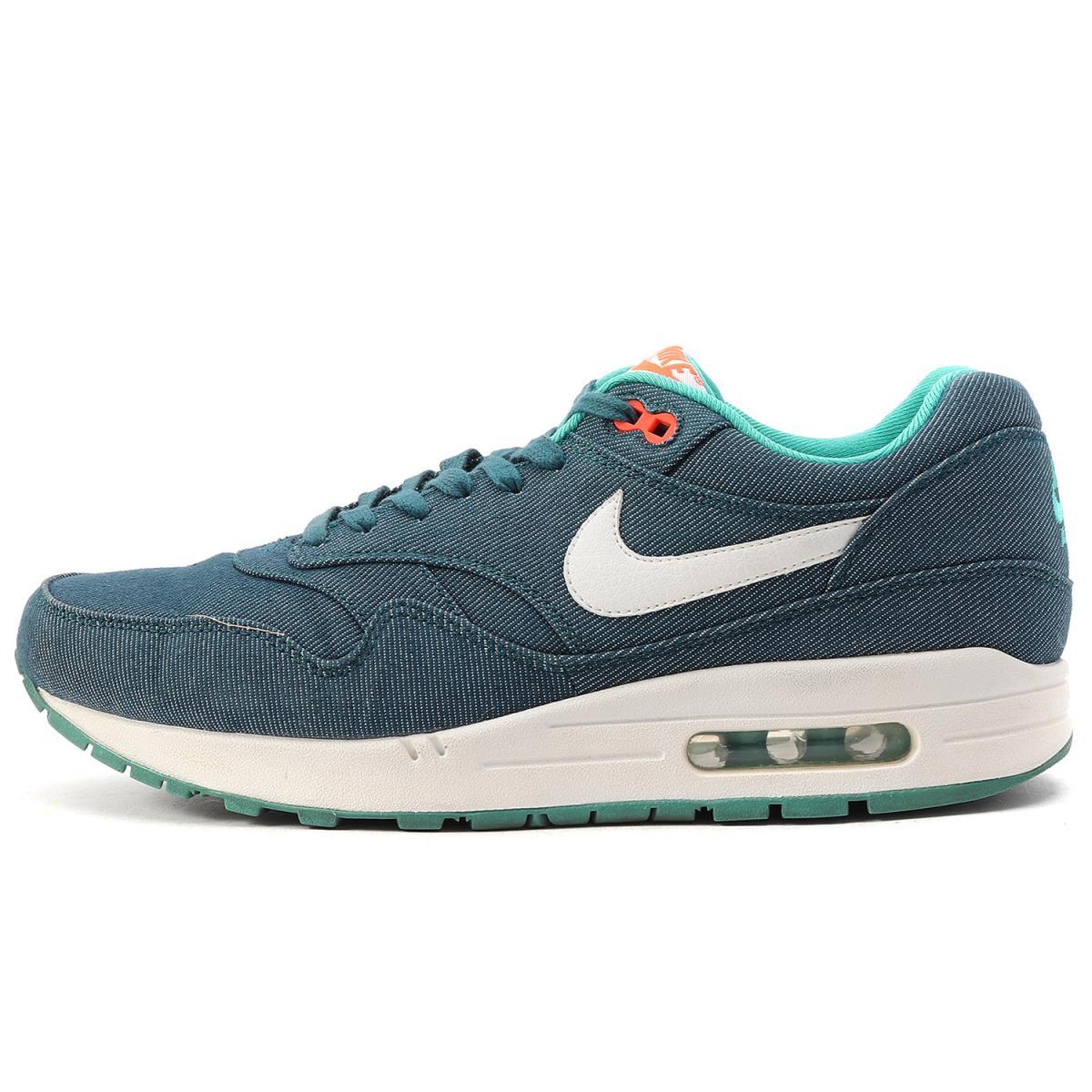 online retailer 89060 ff4e5 NIKE (Nike) AIR MAX 1 PREMIUM TURQUOISE DENIM (512,033-313) Air Max 1  midnight turquoise US9(27cm)