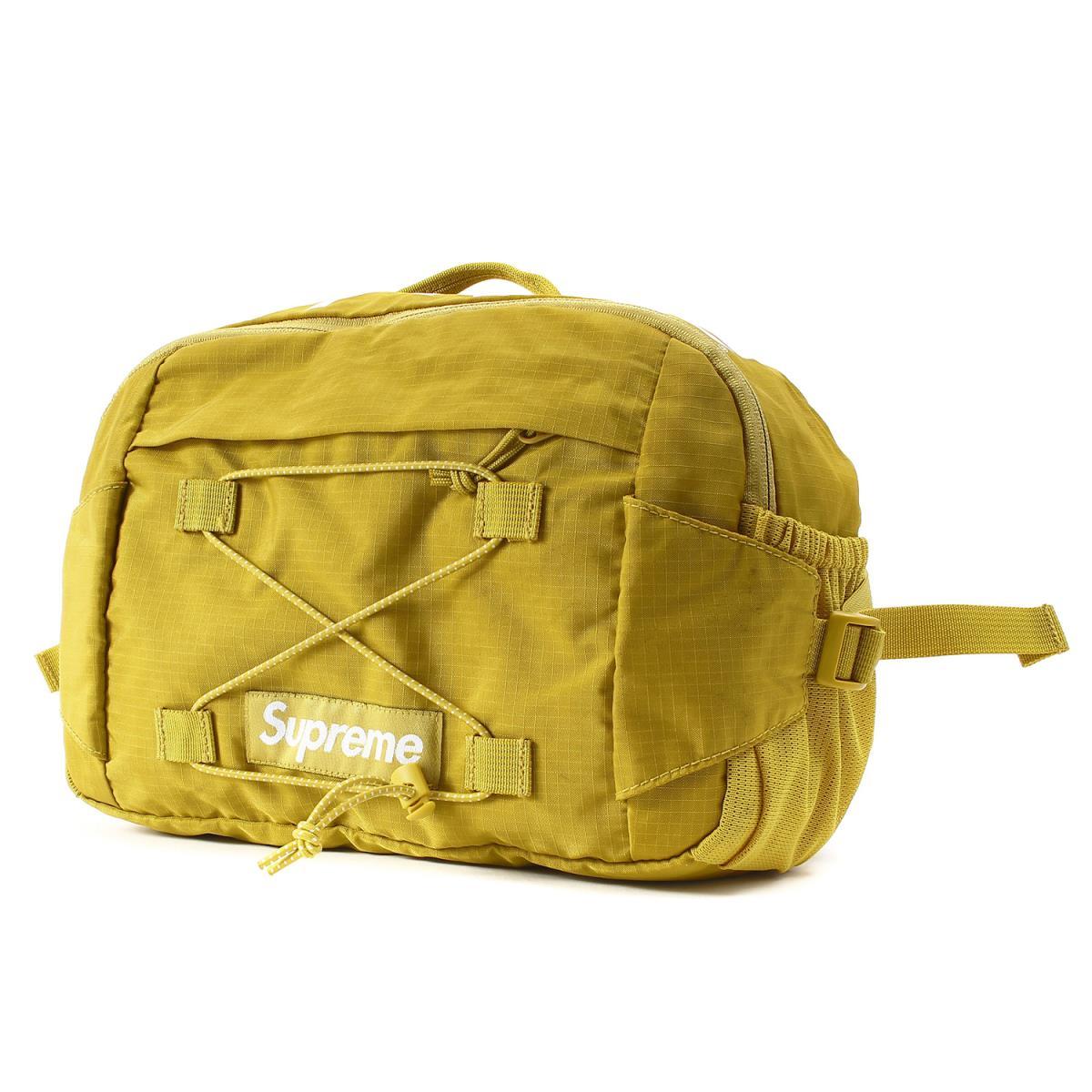 Supreme (シュプリーム) 17S/S リップストップナイロンウエストバッグ(Waist Bag Ripstop Nylon) アシッドグリーン 【メンズ】【K2180】【中古】【あす楽☆対応可】