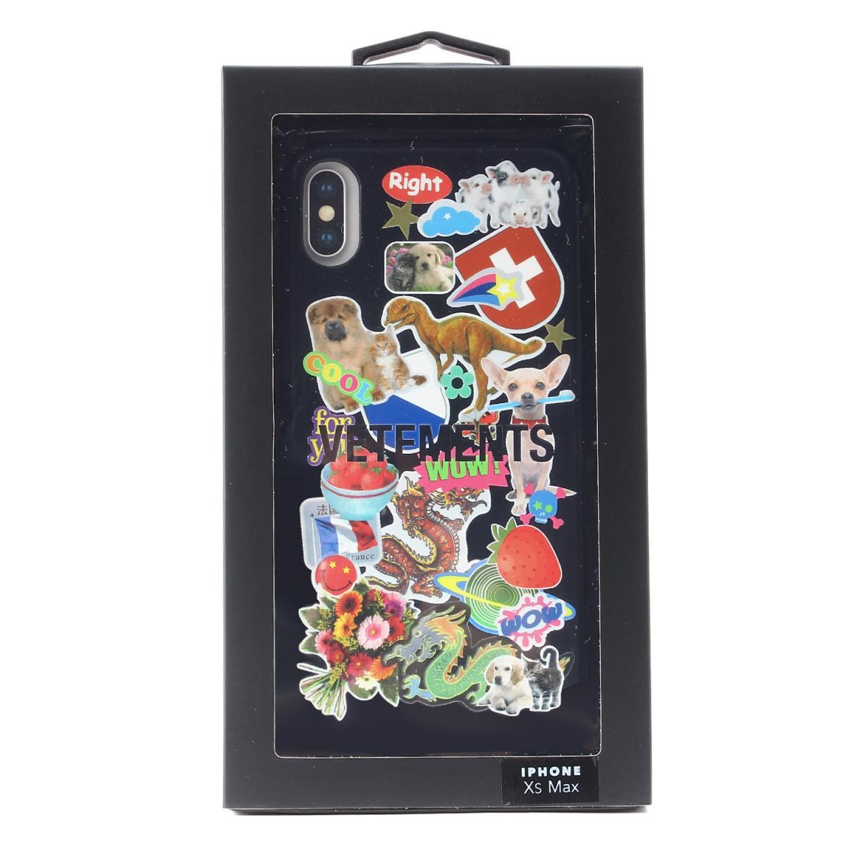 VETEMENTS (ヴェトモン) 19S/S フォトコラージュiPhone XS Maxケース(iPhone Case) ブラック 【メンズ】【K2180】【あす楽☆対応可】