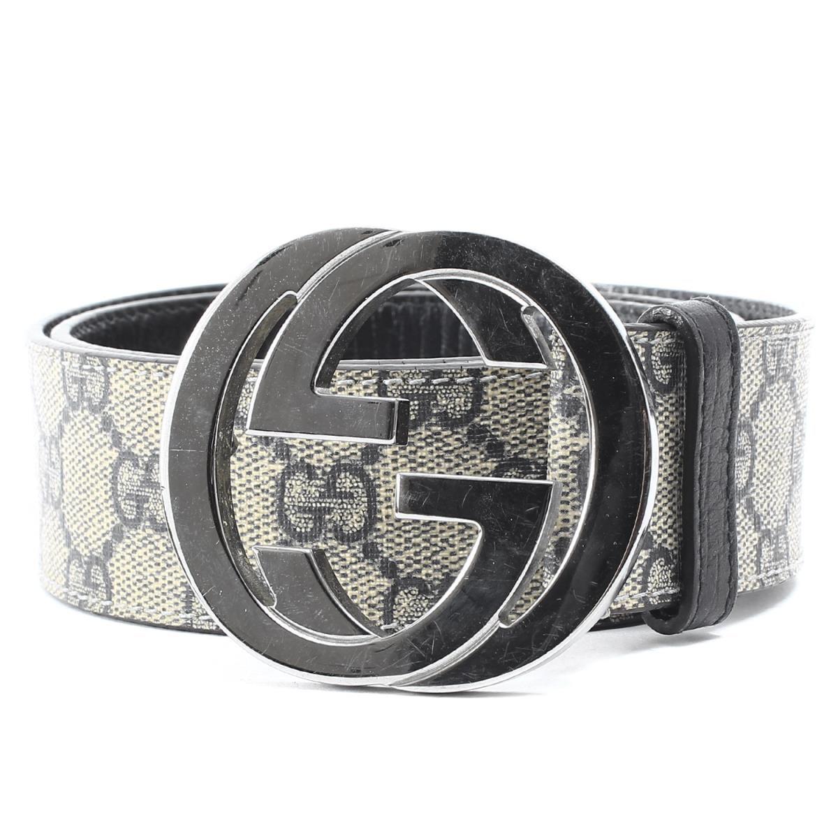 d31bf9c30 GUCCI (Gucci) GG buckle interlocking grip GG monogram belt (CINTURA GG  SUPREME) ...