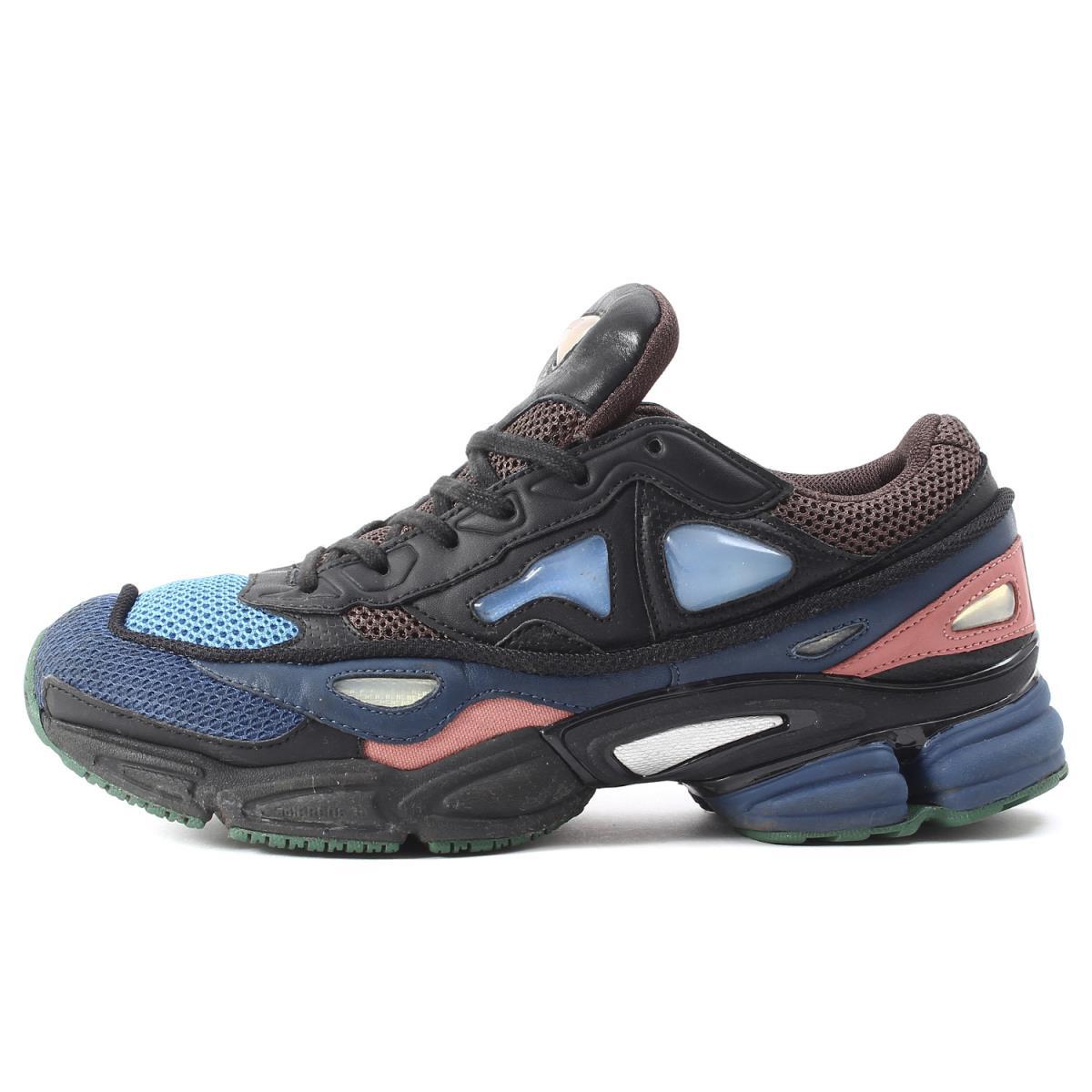 f4fab3d514e4 RAF SIMONS (rough Simmons) X adidas OZWEEGO II(S76451) オズウィーゴ 2 sneakers  black US8.5(26.5cm)