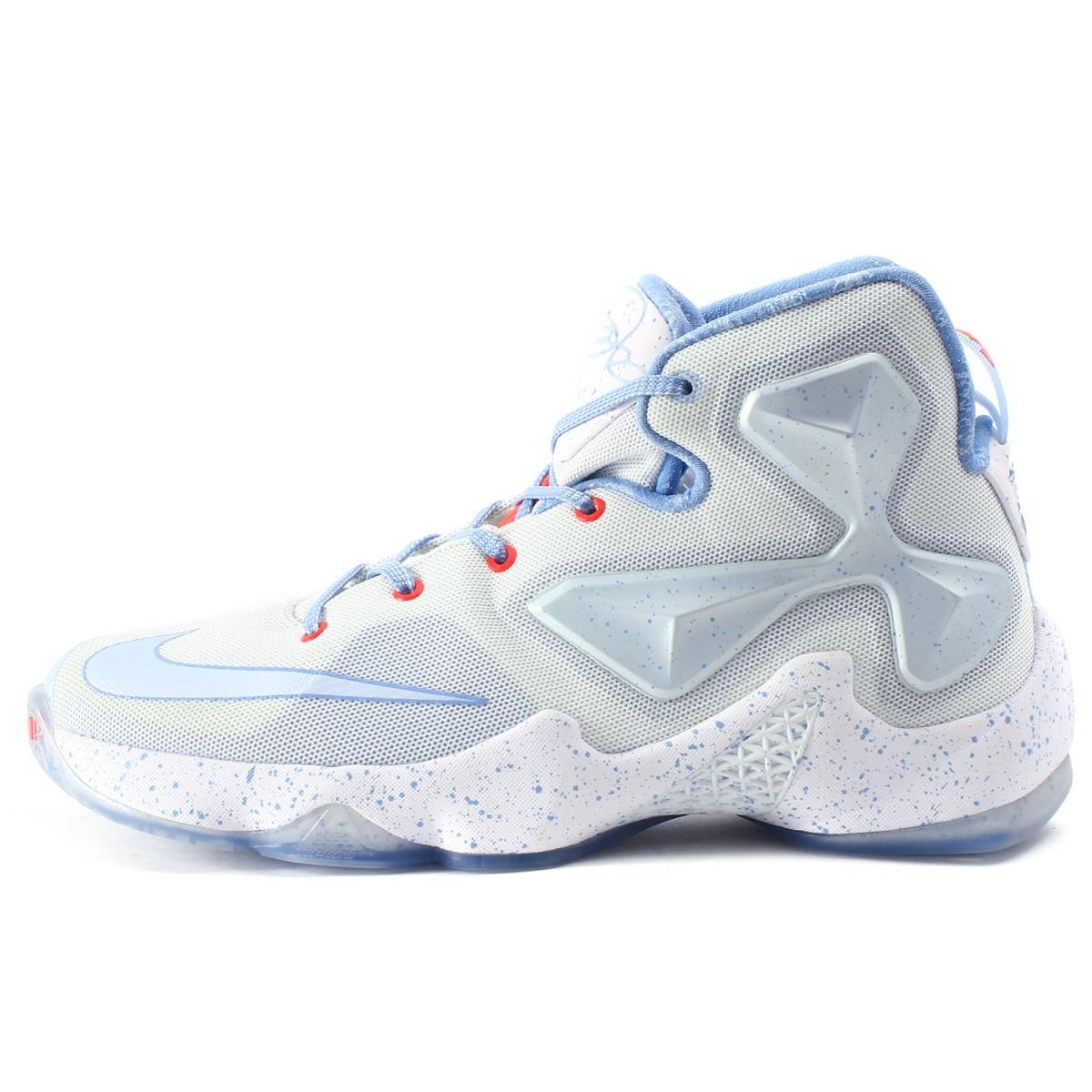 low priced 0acef 14820 NIKE (Nike) LEBRON 13 GS XMAS (824,502-144) summit white X ブルーティント  US7Y(25cm)