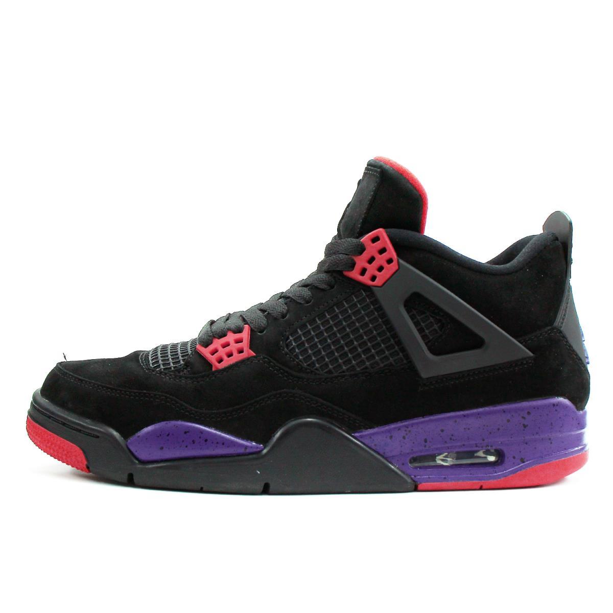 best authentic f507f 3cff8 NIKE (Nike) AIR JORDAN 4 RETRO NRG RAPTORS (AQ3816-065) black X coat purple  US10.5(28.5cm)