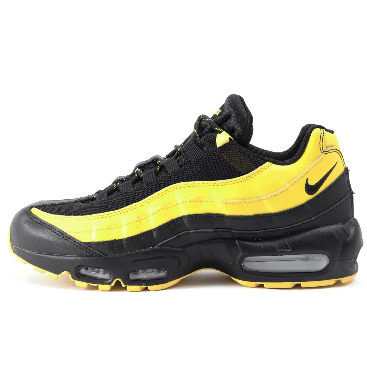 online shop pre order online here NIKE (Nike) FOOT LOCKER comment AIR MAX 95 FREQUENCY PACK(AV7939-001) black  X yellow US9(27cm)