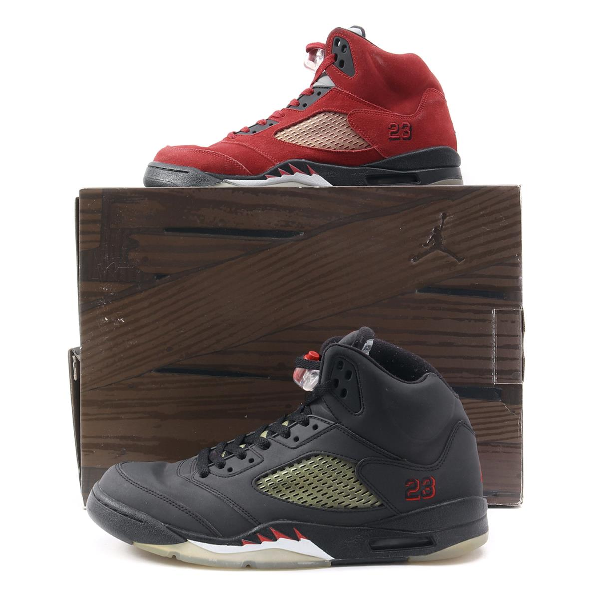 premium selection 1723b ea8b9 NIKE (Nike) AIR JORDAN 5 RETRO DMP RAGING BULL (360,968-991) red   black  US10.5(28.5cm)