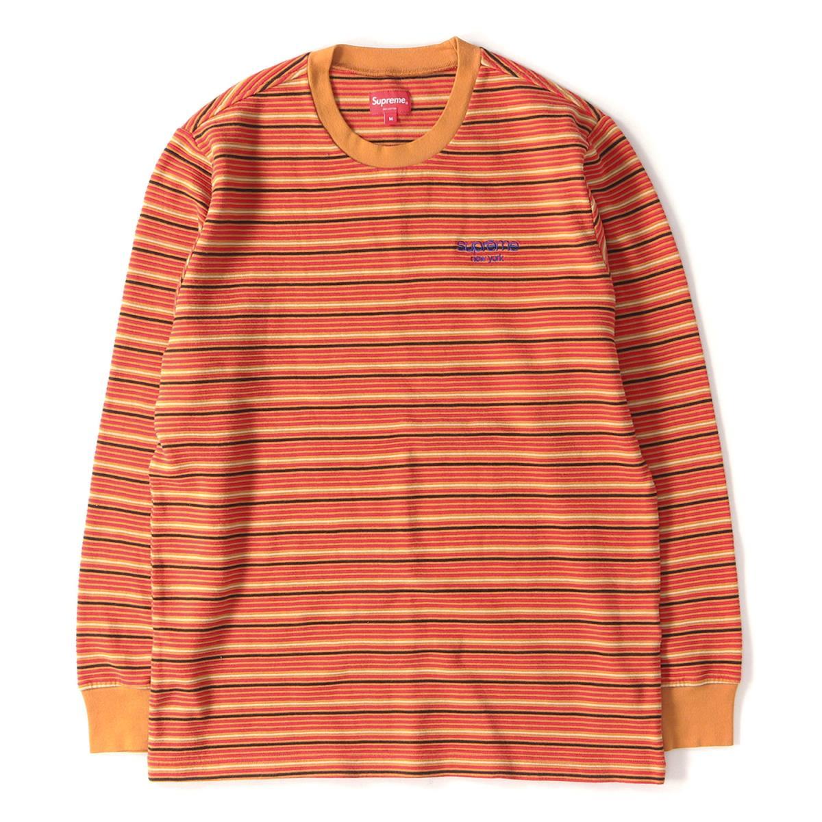激安正規品 Supreme (シュプリーム) 17A/W クラシックロゴボーダーロングスリーブトップ / Tシャツ(Raised Stripe L/S Top) ラスト M 【美品】【メンズ】【K2204】【】【☆対応可】, VONDO 43d8ca23